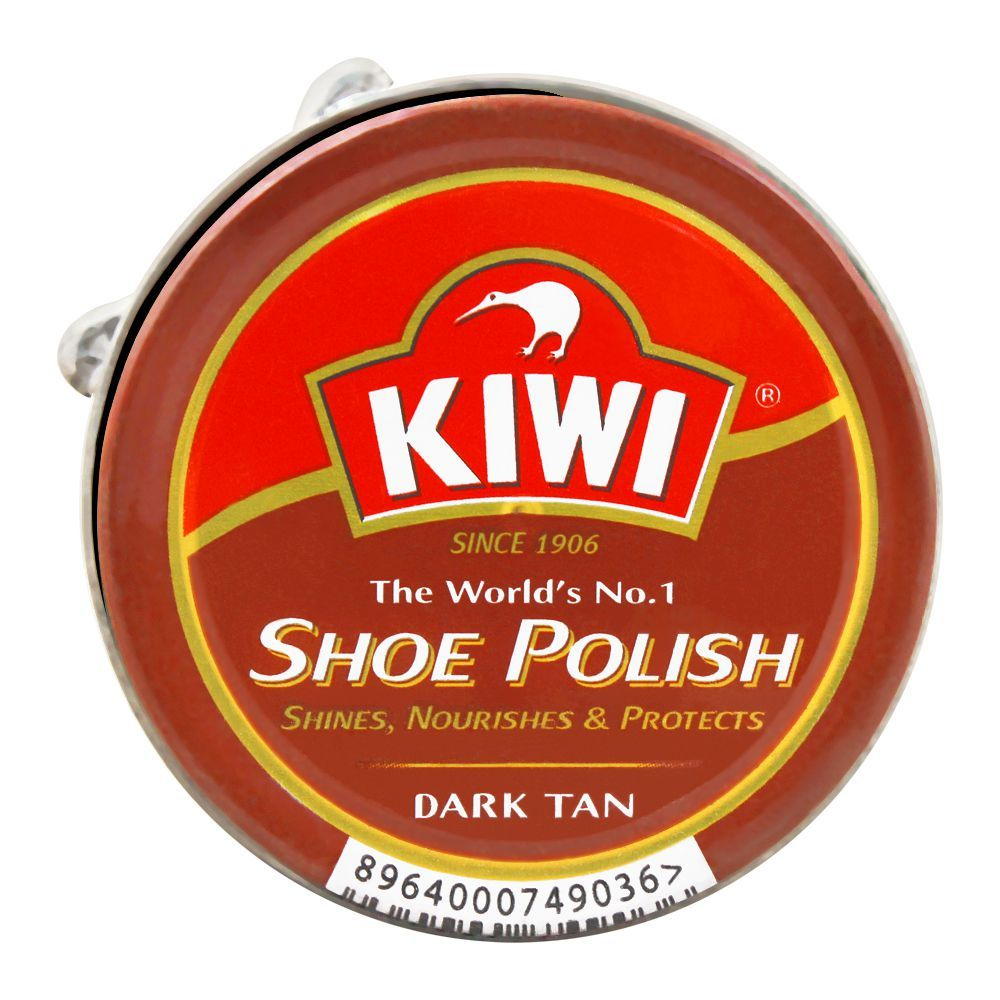 Kiwi Shoe Polish, Dark Tan, 20ml