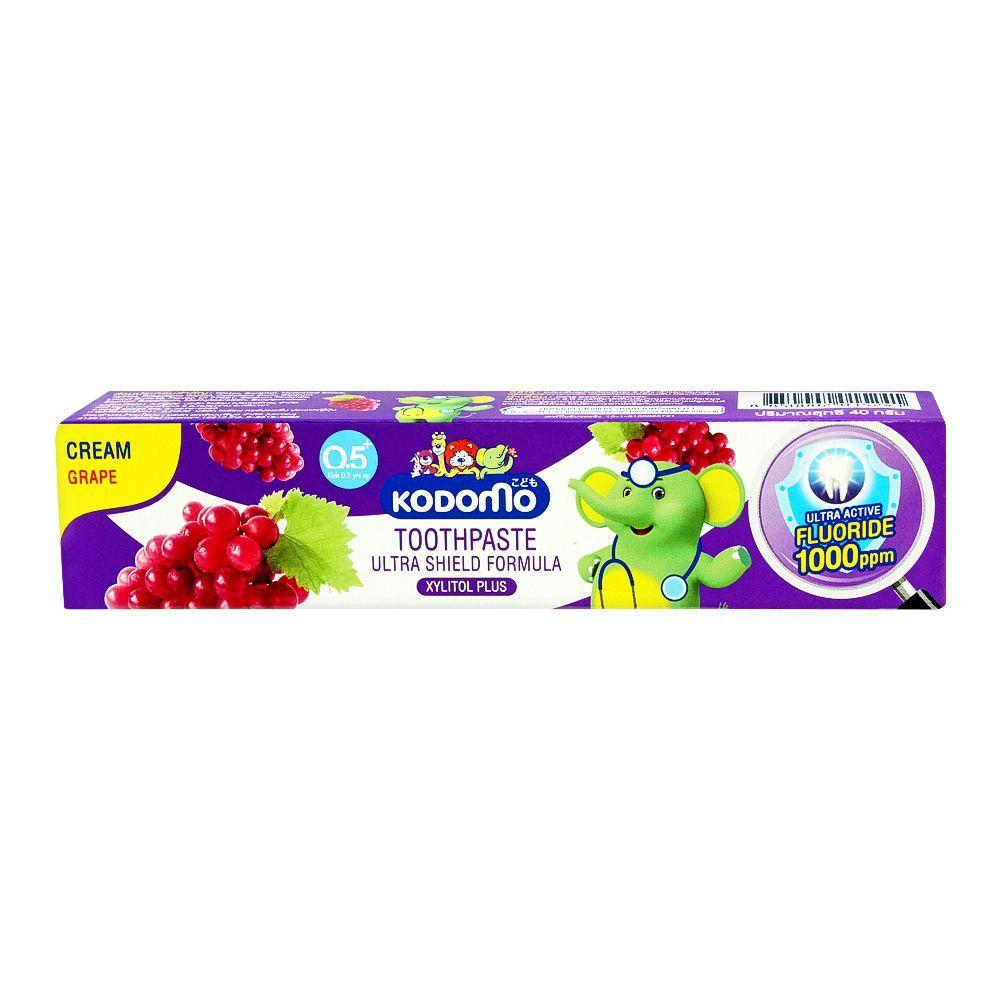 Kodomo Ultra Shield Formula Cream Toothpaste, Grape, 40g
