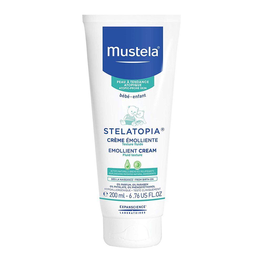 Mustela Baby Stelatopia Emollient Cream, Paraben & Perfume Free, 200ml