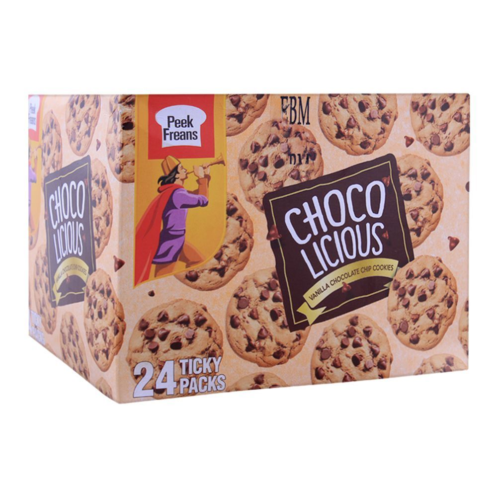 Peek Freans Vanilla Chocolicious Biscuit, 24 Ticky Packs