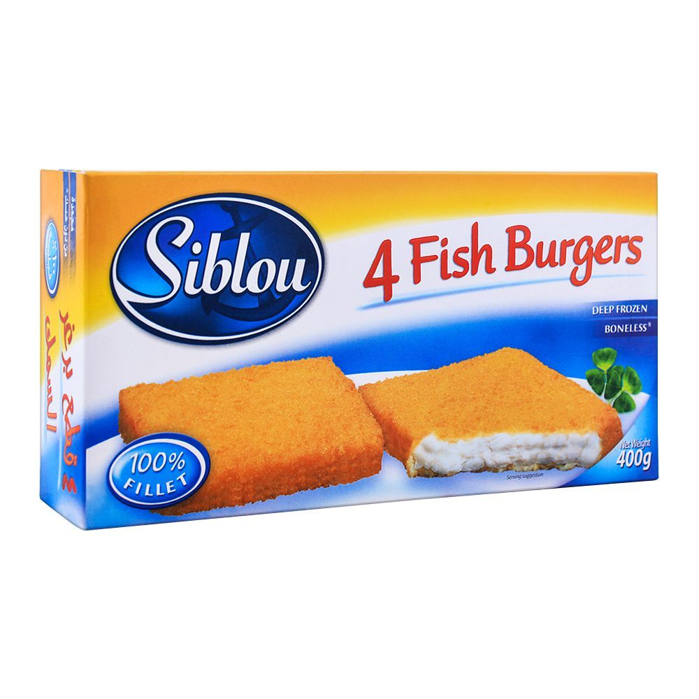 Siblou Fish Burgers, 4 Pieces, 400g