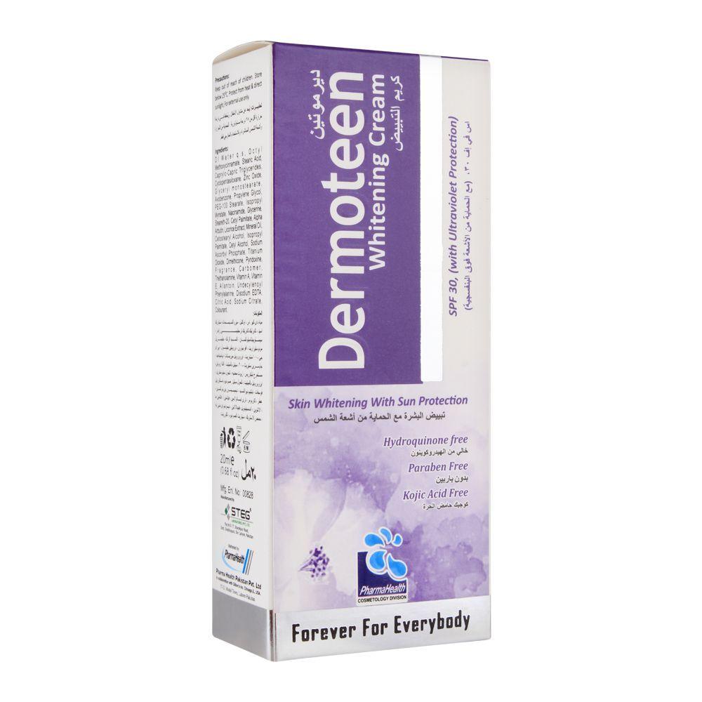 Dermoteen Whitening Cream, SPF 30, Paraben Free, 20ml