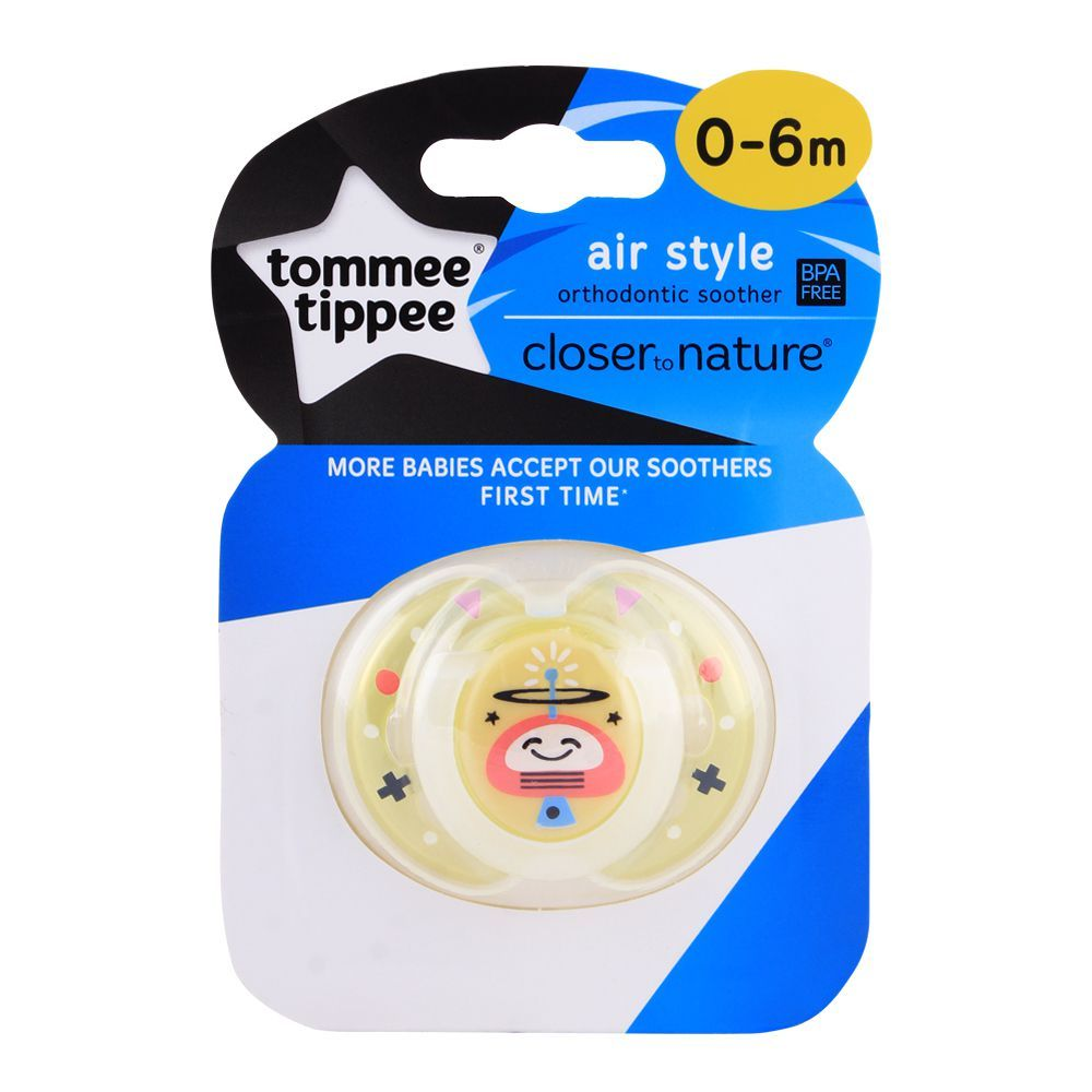 Tommee Tippee Air Style Soother 0-6m (Satellite) - 433375/38