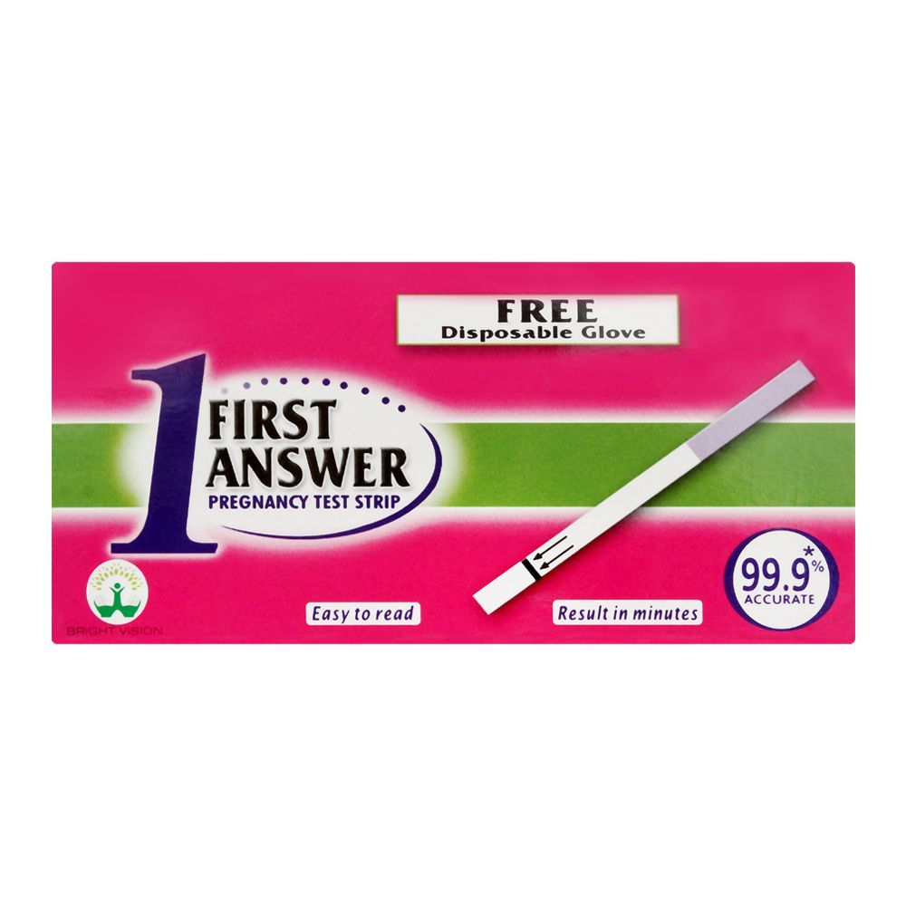 First Answer Pregnancy Test Strip