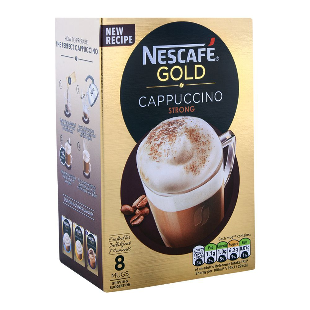 Order Nescafe Gold Cappuccino Strong Coffee 8x14.5g Online ...