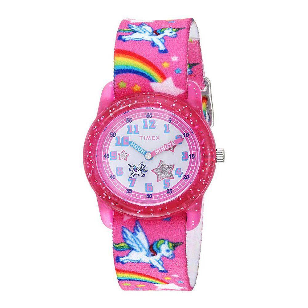 Timex Girls Time Machines Analog Elastic Fabric Strap Watch - TW7C25500