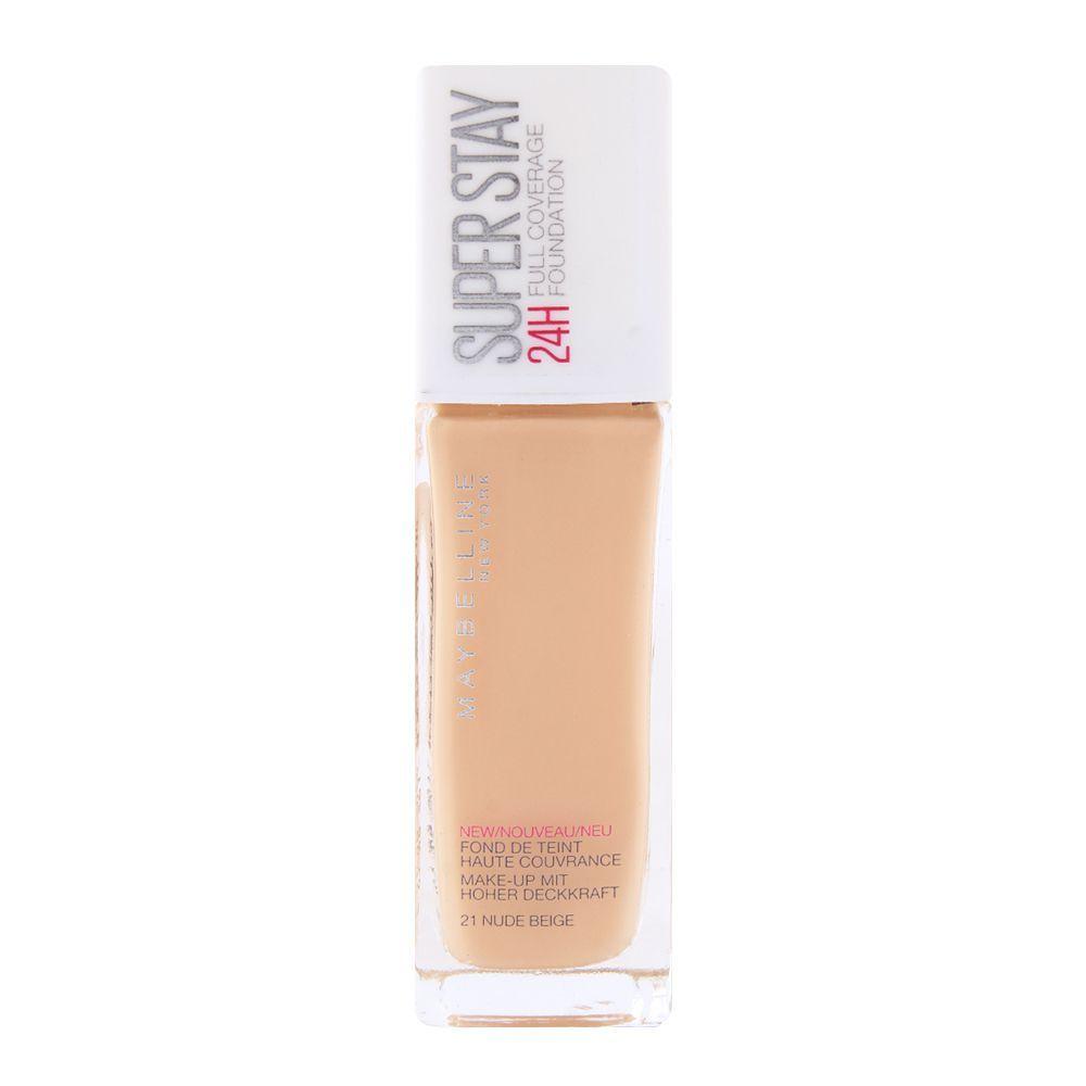 Maybelline SuperStay 24H Foundation 21 Nude Beige 30ml - £