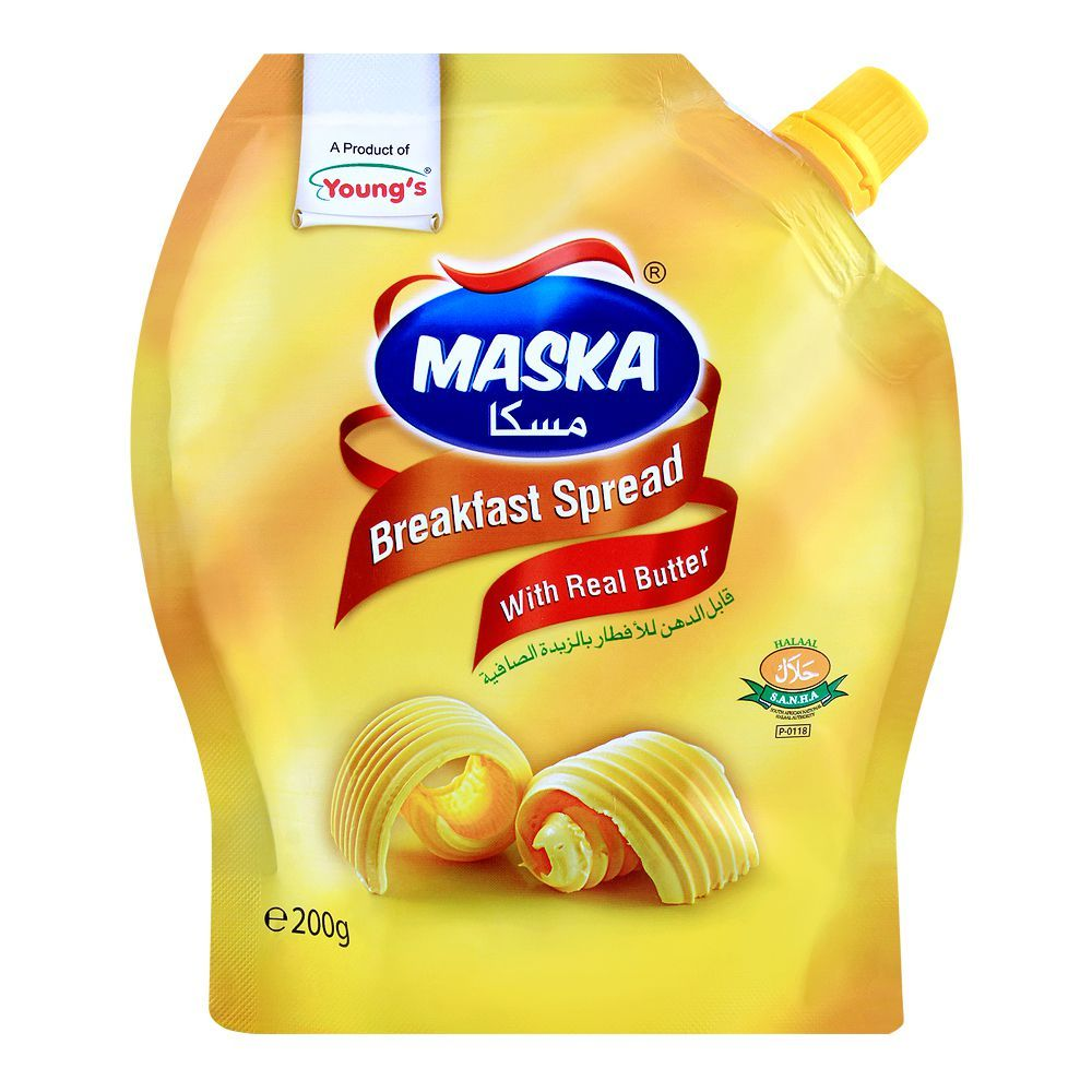 Young's Maska Breakfast Spread, With Real Butter, 200g