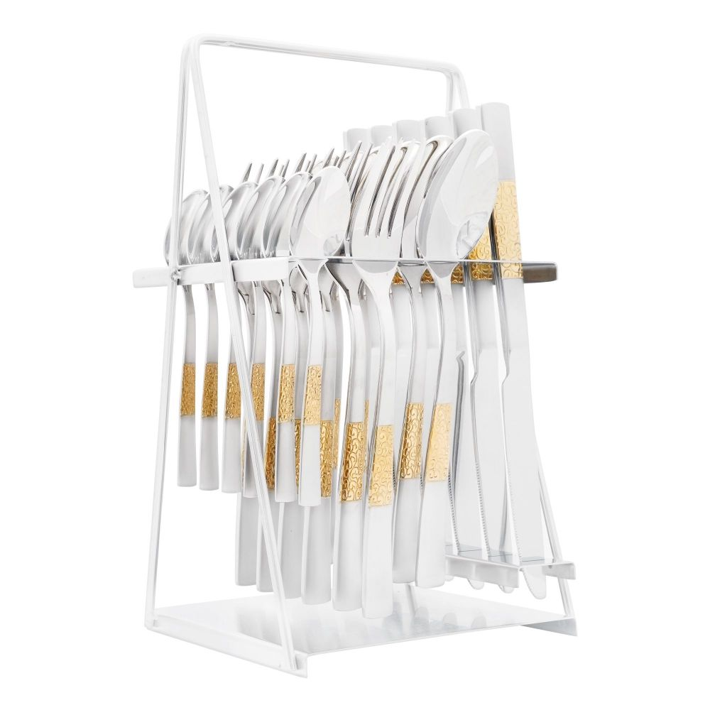 Elegant Stainless Steel Cutlery Set, 24 Pieces, FF0001