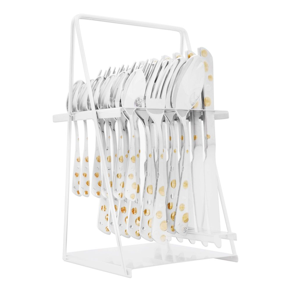 Elegant Stainless Steel Cutlery Set, 24 Pieces, FF0003