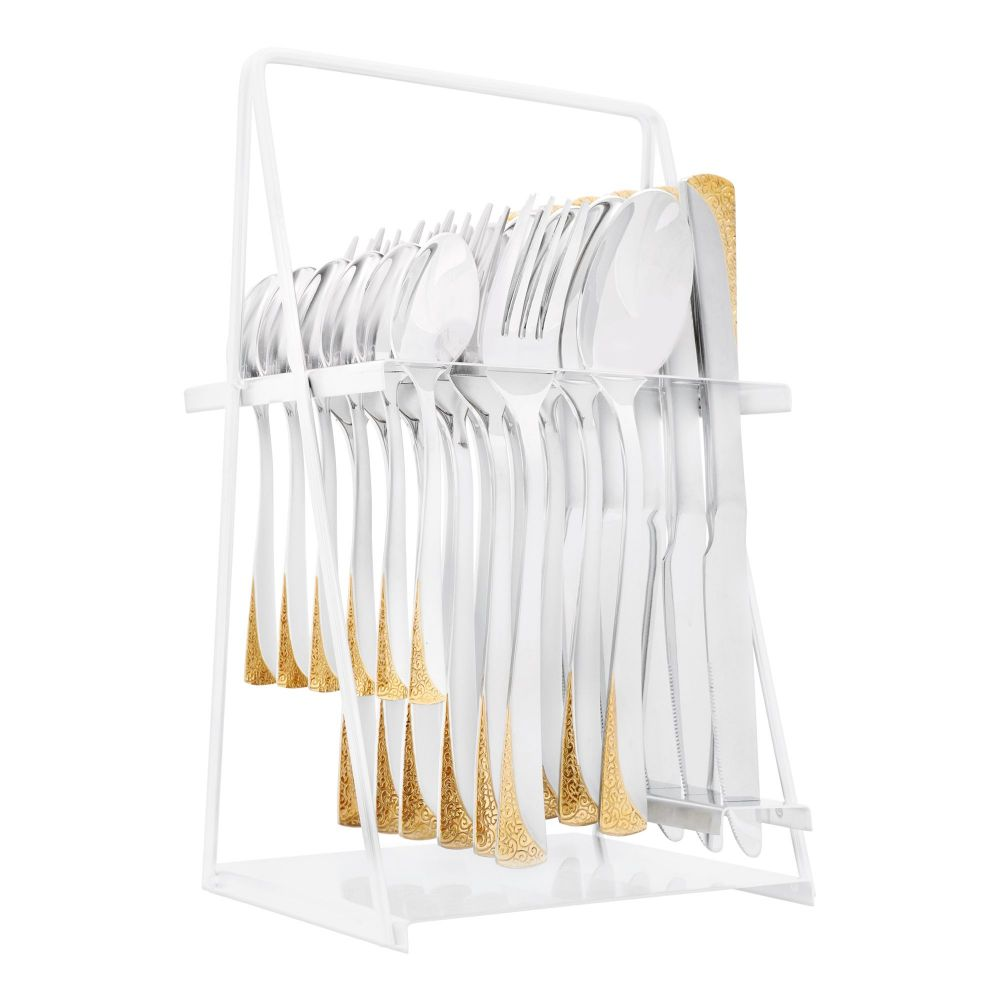 Elegant Stainless Steel Cutlery Set, 24 Pieces, FF0005