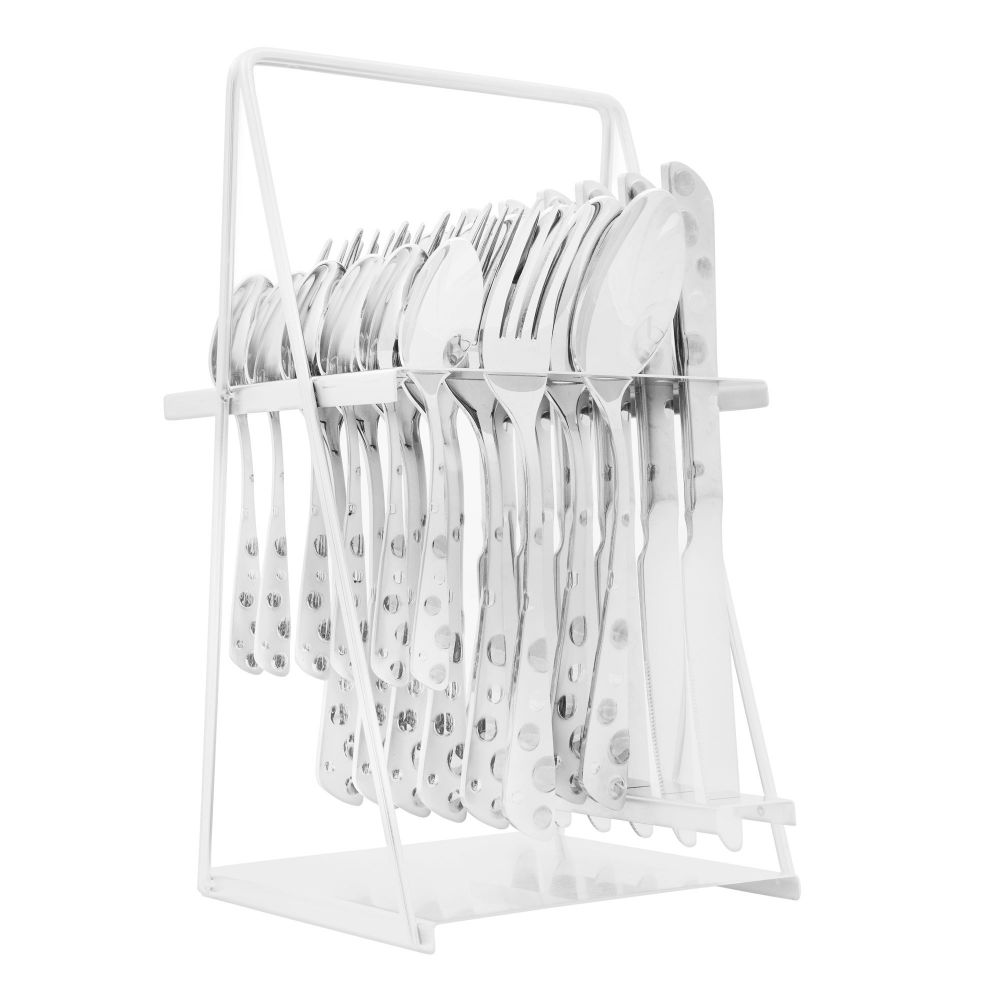 Elegant Stainless Steel Cutlery Set, 24 Pieces, FF0004