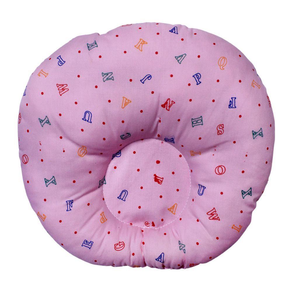Angel's Kiss Round Baby Pillow, Pink