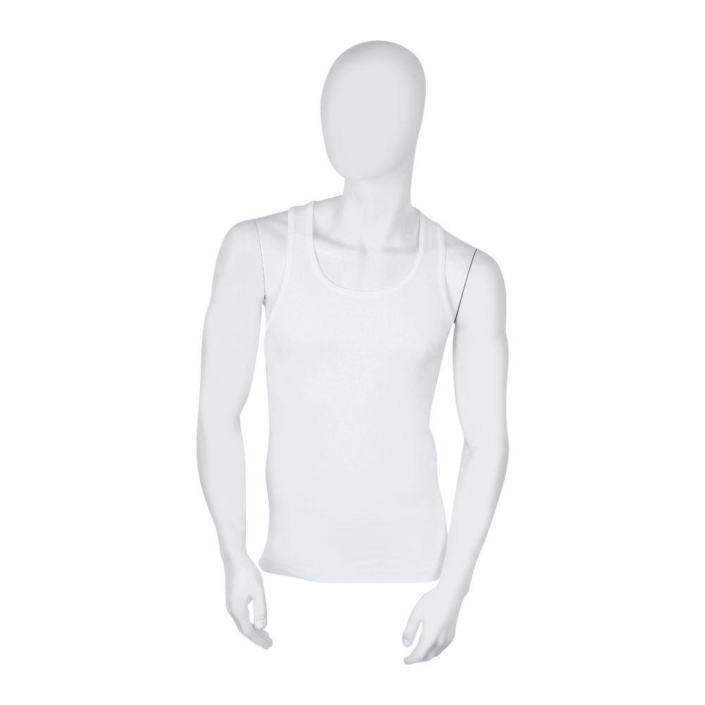 Feel Cotton Collection Men's Vest, Sandoo, White