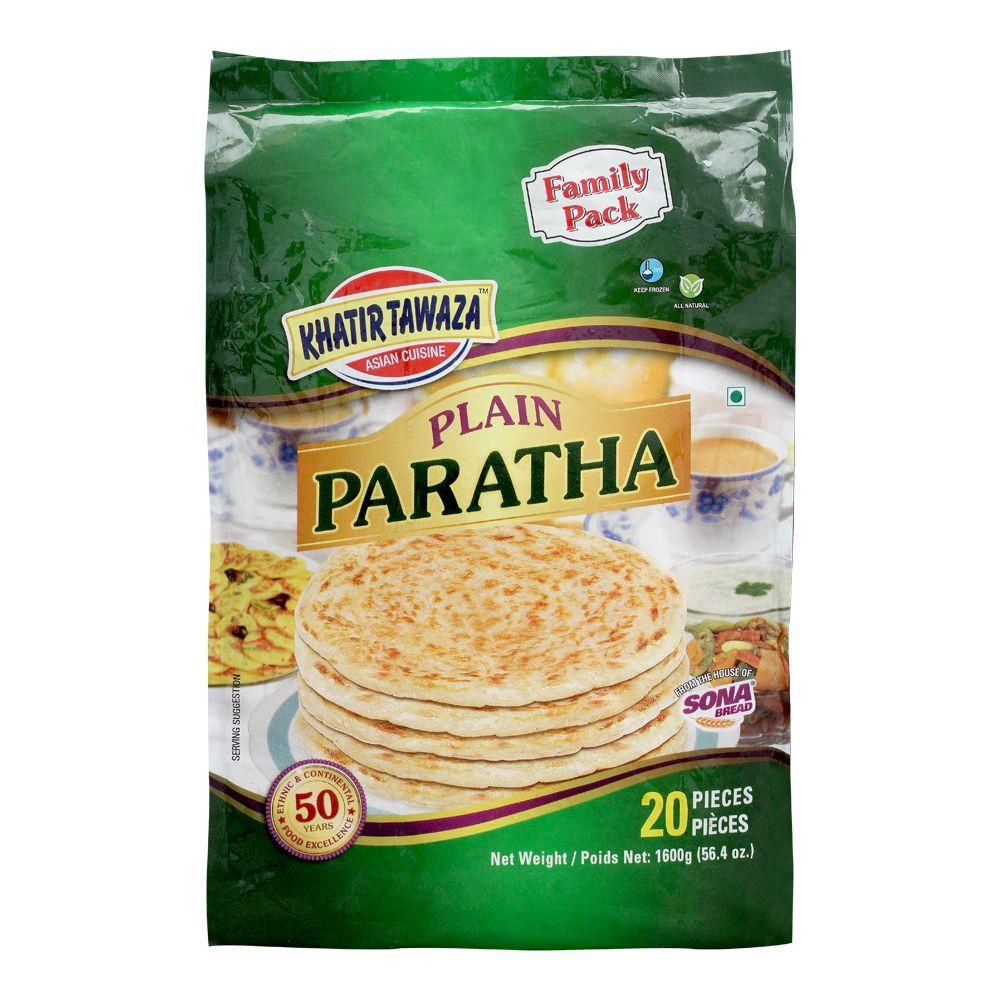 Khatir Tawaza Plain Paratha, 20 Pieces, Family Pack