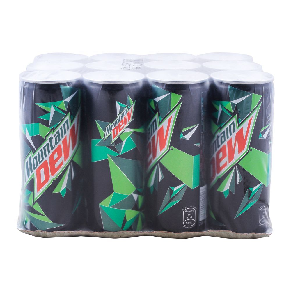 Mountain Dew Can (Local) 250ml, 12 Pieces