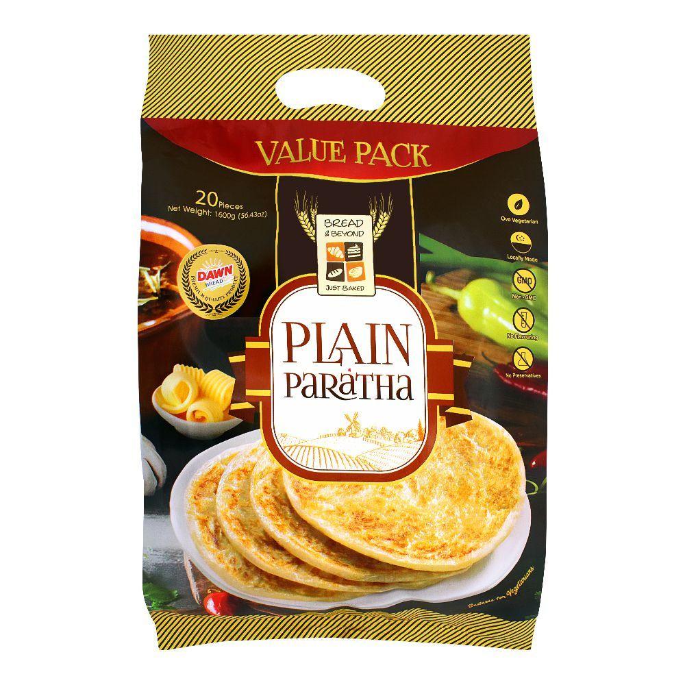 Bread & Beyond Plain Paratha, 20 Pieces, 1600g