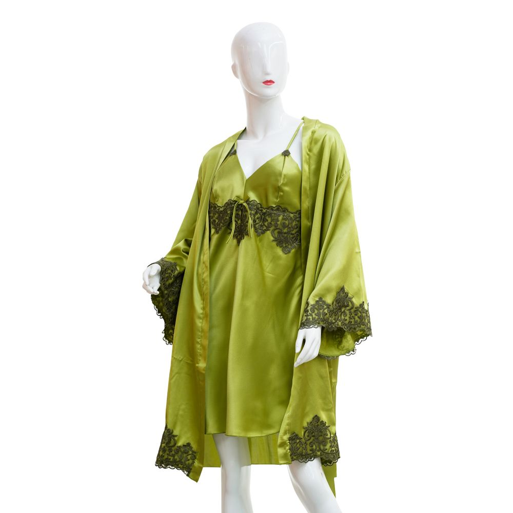 Moon Girl Nighty 2-Piece Set, For Women, Light Green, 061