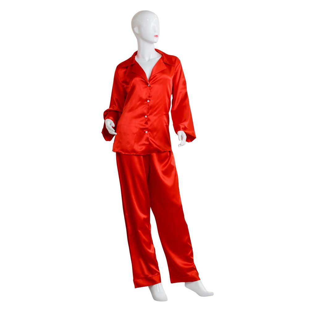 Moon Girl Women Pajama Suit, Red, 073