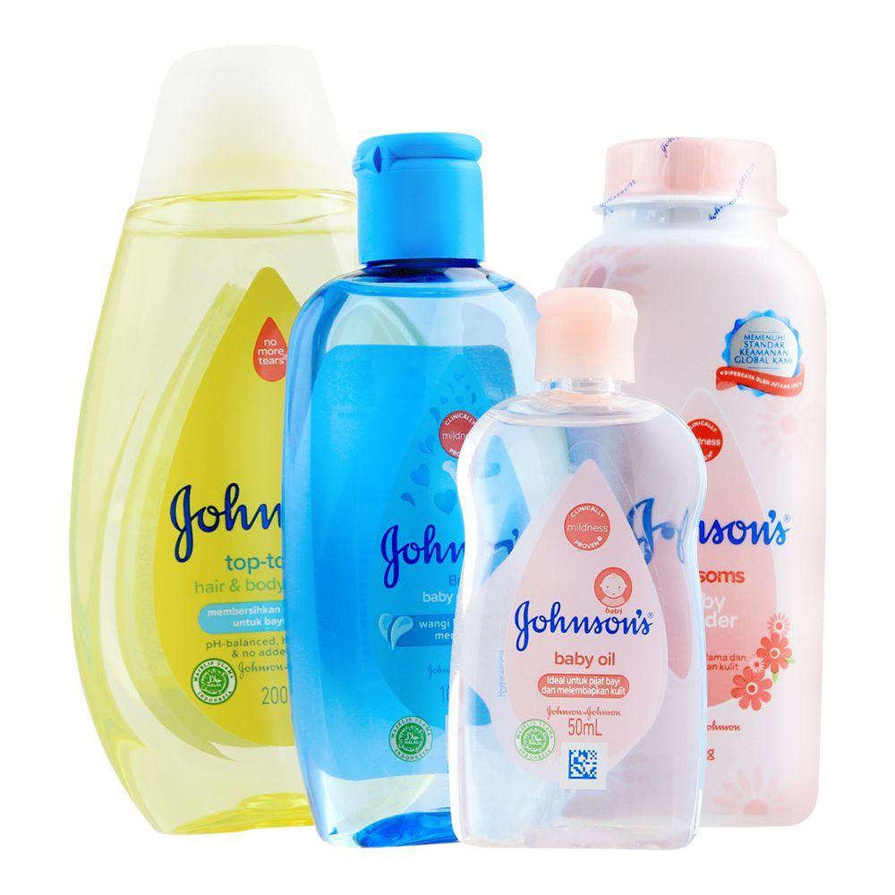 Johnson's Essentials Baby Gift Set, 4 Pieces