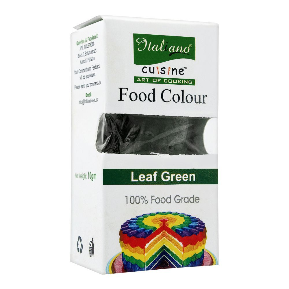 Italiano Food Colour, Leaf Green, 10g