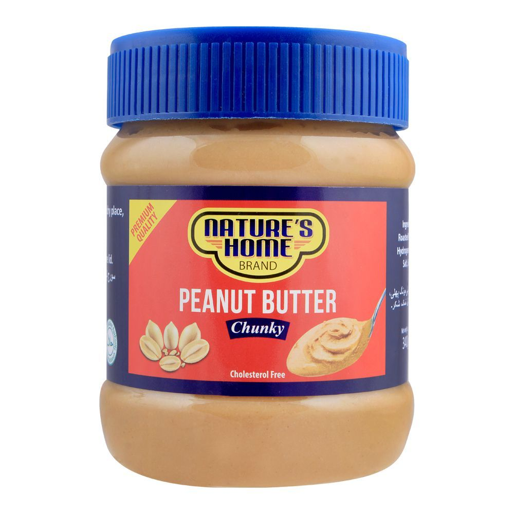 Nature's Home Peanut Butter, Chunky, 340g