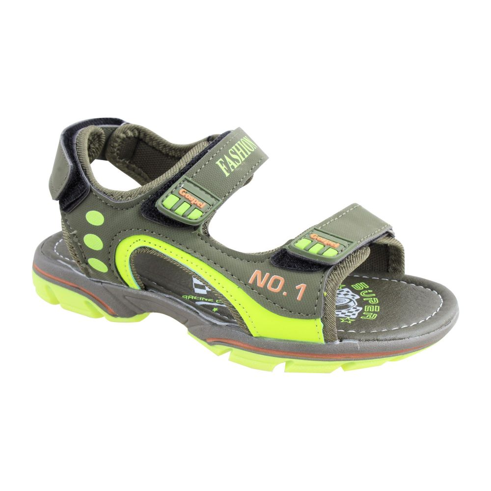 Kids Sandals, For Boys, S-221, Green