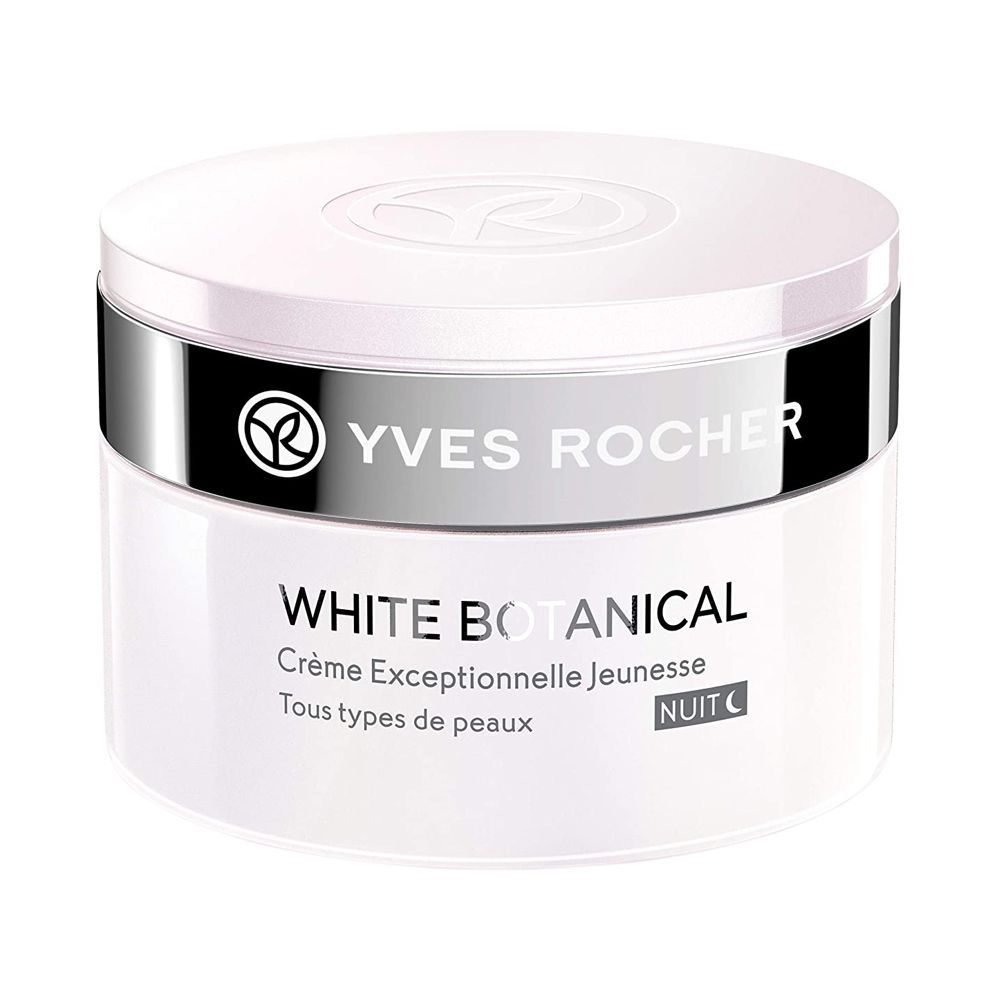 Yves Rocher White Botanical Exceptional Youth Night Cream, All Skin Types, 50ml