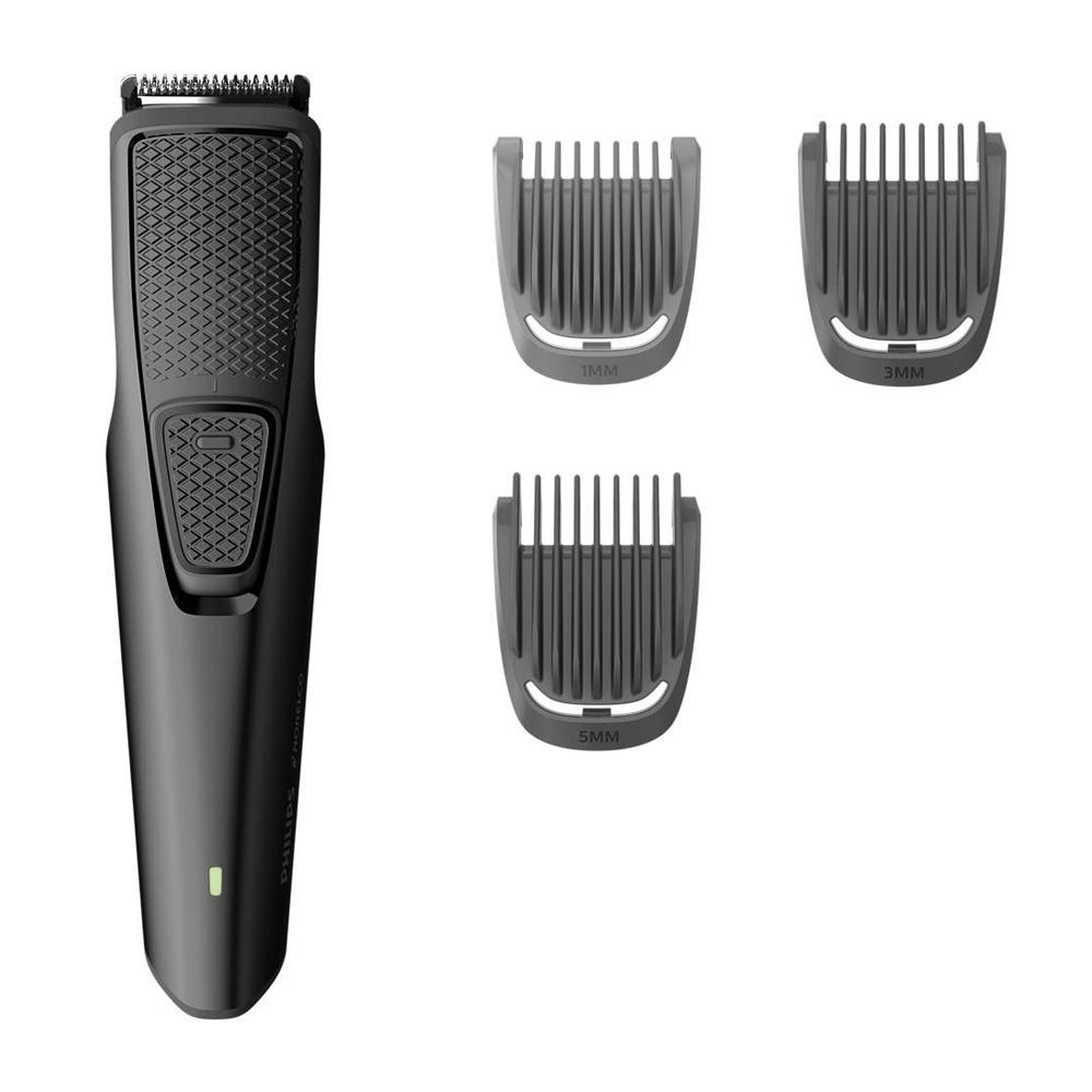Philips Norelco 1000 Series Beard & Stubble Trimmer, USB Charging With 3 Guards, BT1208/70