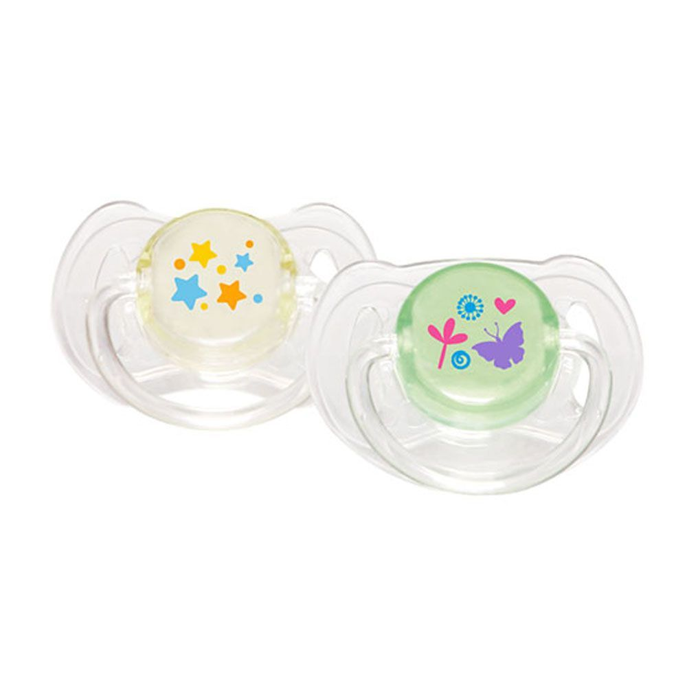 Pink Baby Classic Style Orthodontic Silicone Pacifier, 18-24m, 2-Pack, A-216
