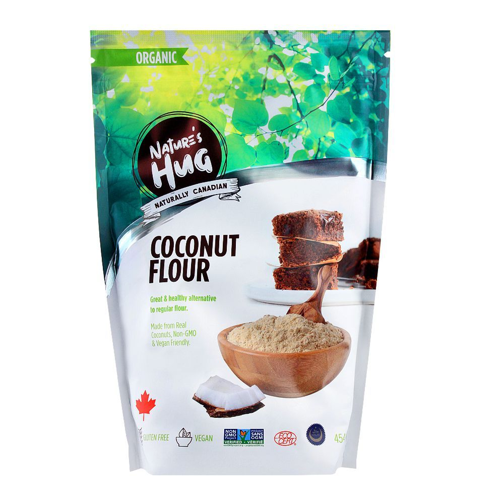Nature's Hug Organic Coconut Flour, Gluten Free, 454g