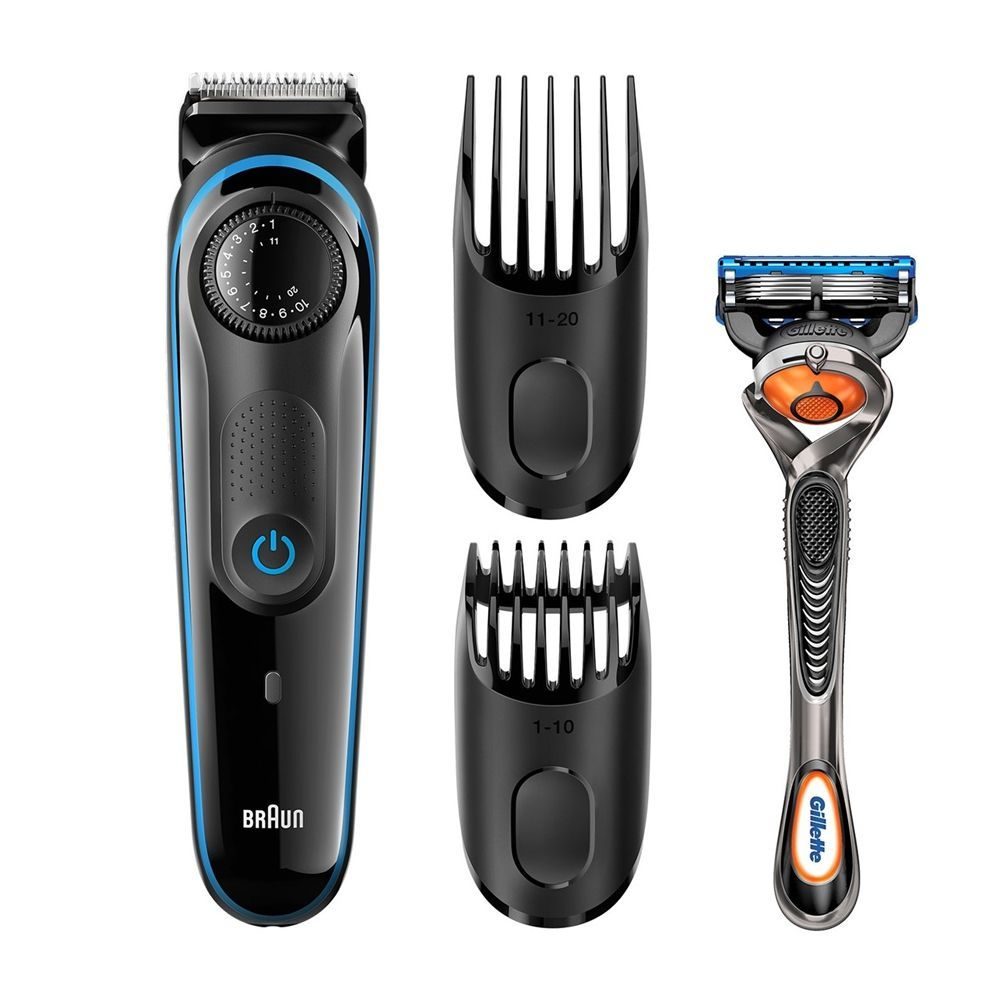 Braun Beard Trimmer, Rechargeable, 39 Length Settings, Black, BT3940