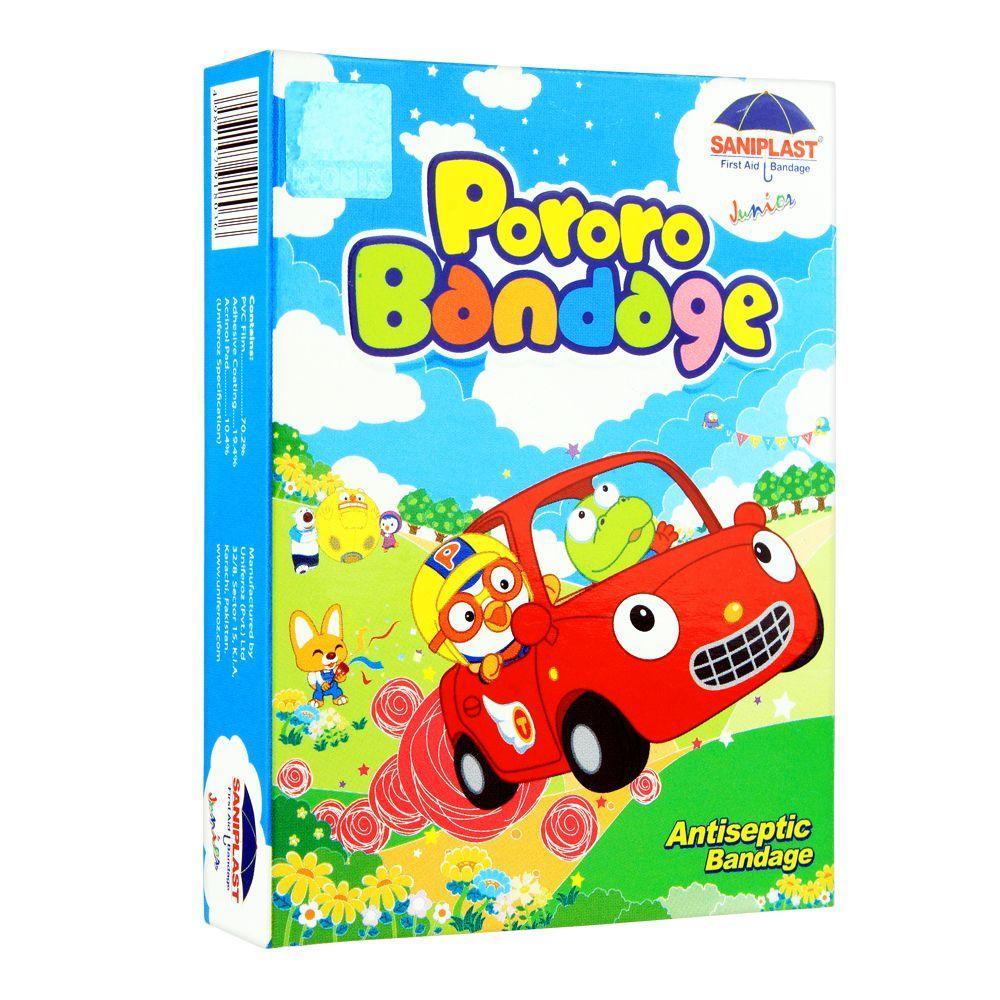 Saniplast Junior Pororo Antiseptic Bandage, Car, 20-Pack