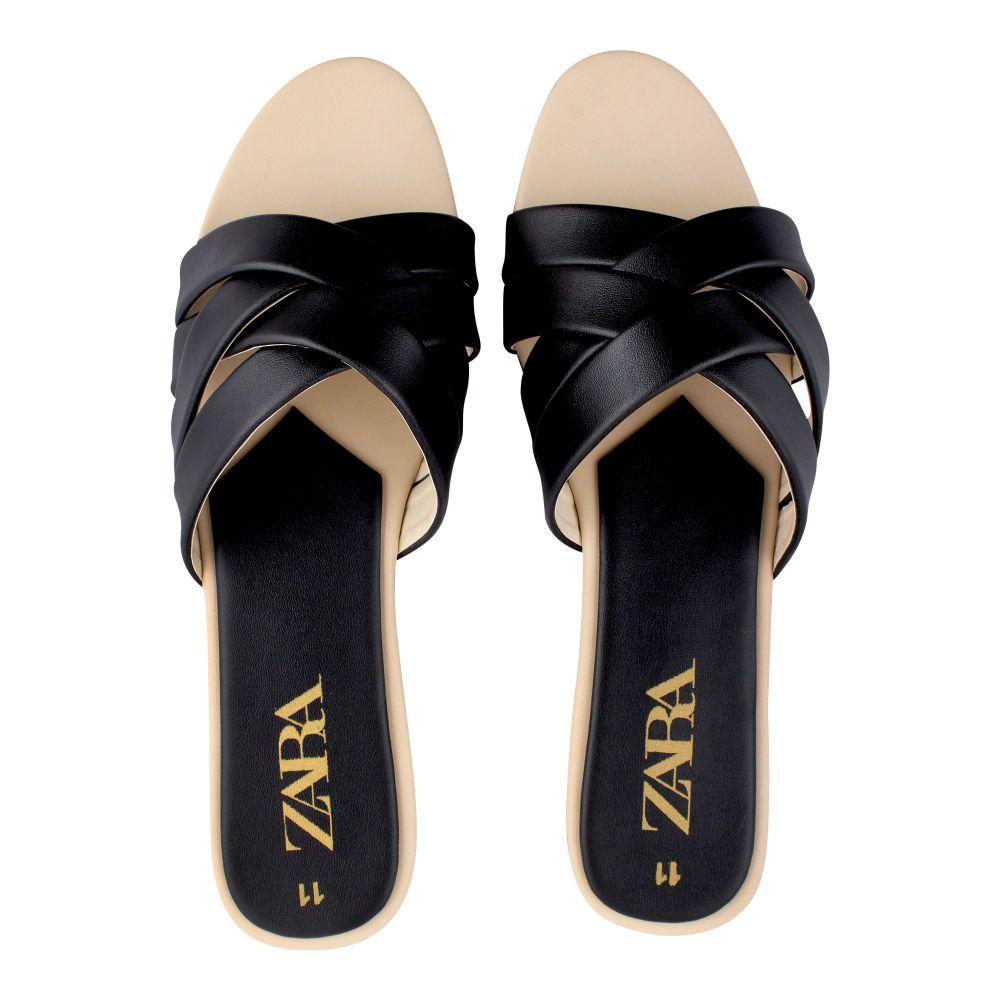 Zara Style Women's Slippers, Black