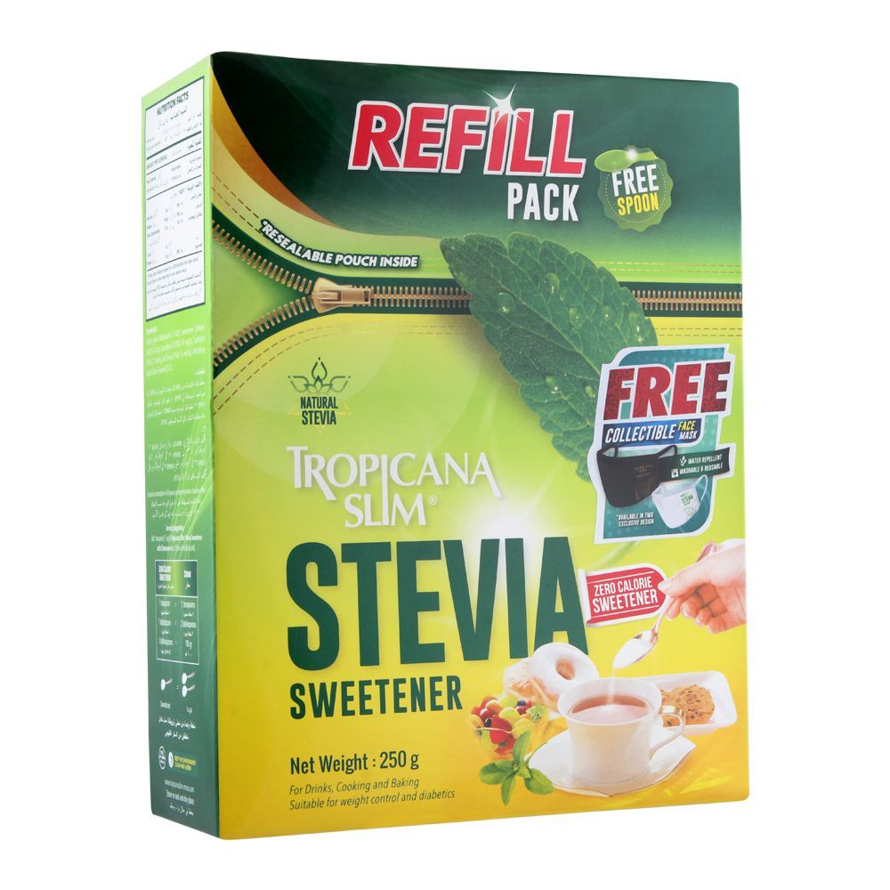 Tropicana Slim Stevia Sweetener, Refill Pack, 250g