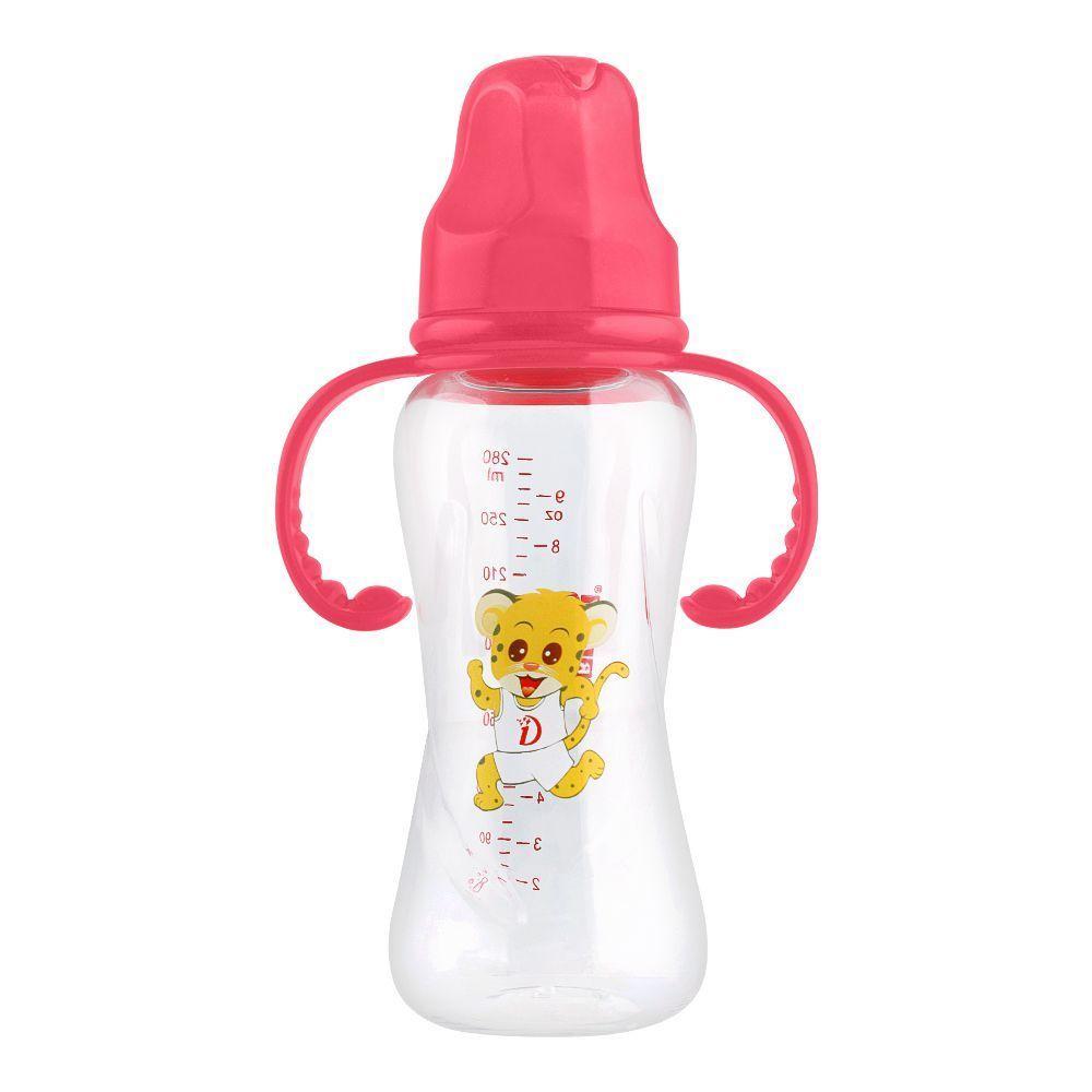 Baby World Baby Feeding Bottle With Handle, 240ml, BW2025
