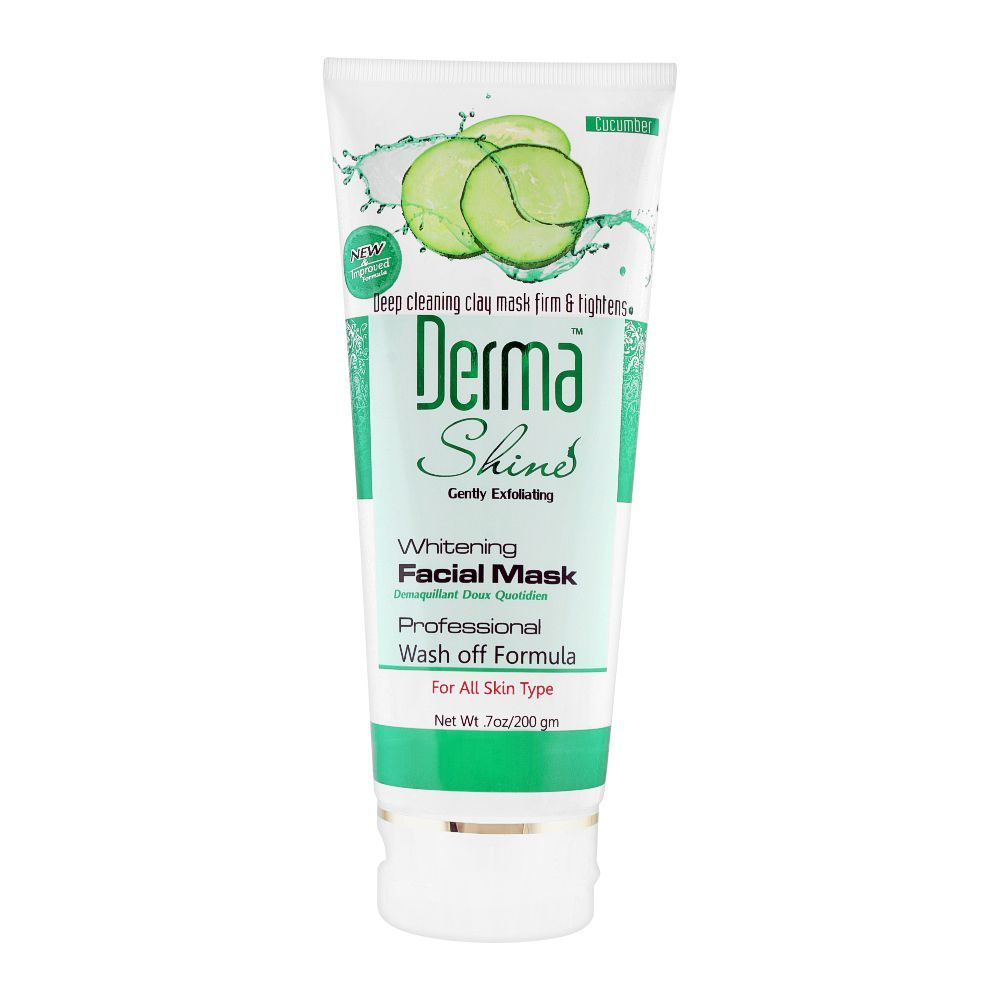 Derma Shine Gently Exfoliating Cucumber Whitening Facial Mask, For All Skin Types, 200g