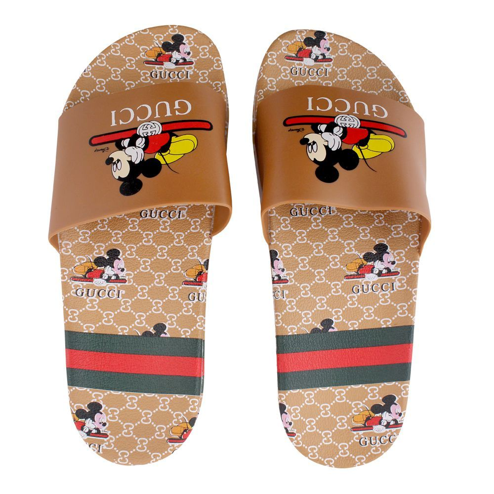 Women's Slippers, H-4, Brown