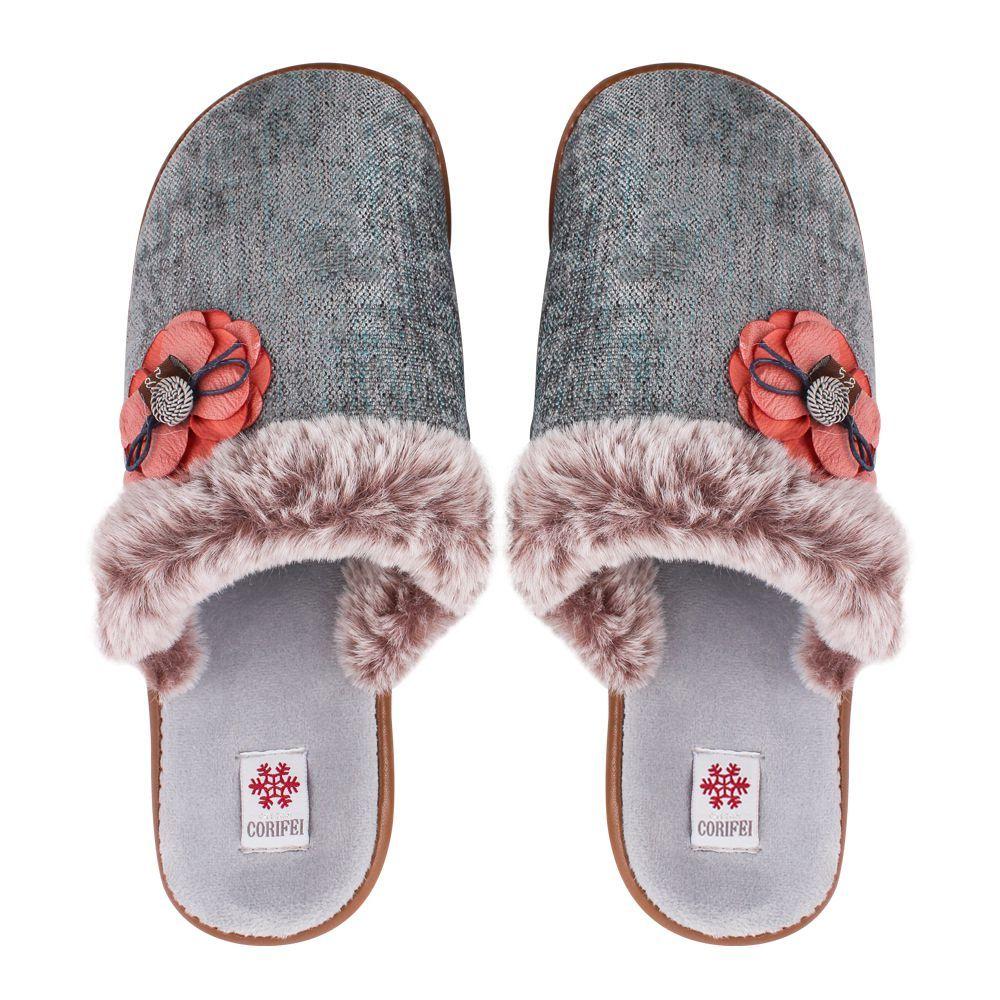 Women's Slippers, H-12, Grey