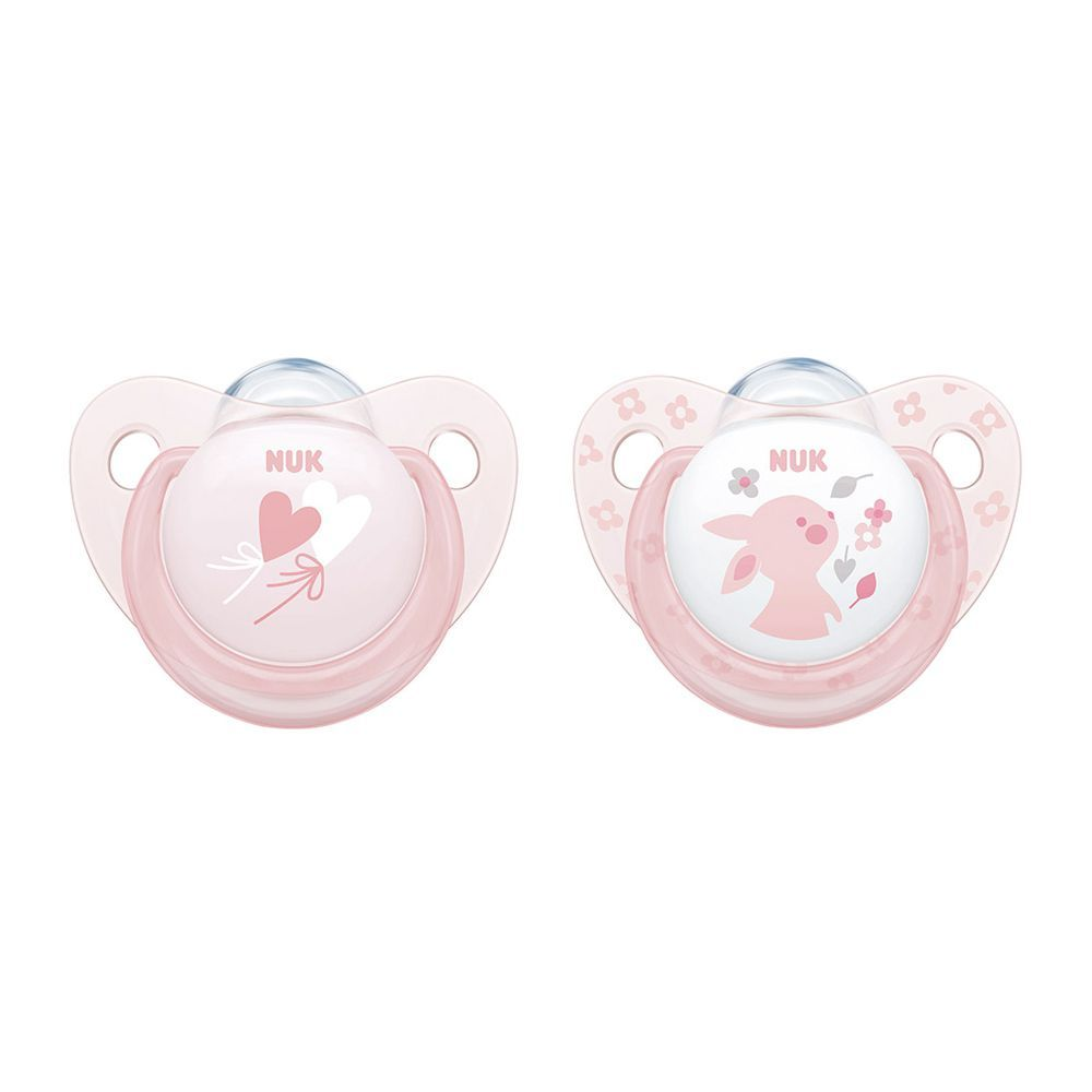 Nuk Baby Rose & Blue Silicone Soother, 6-18m, 10736159