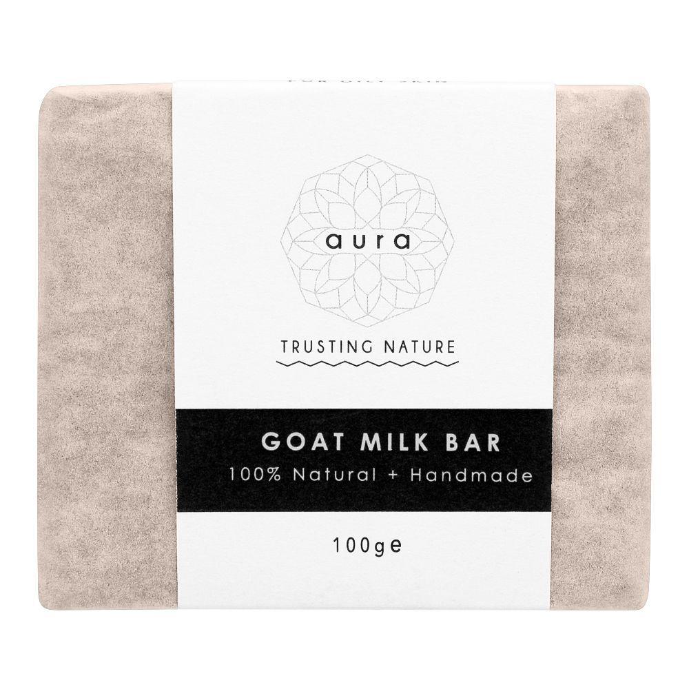Aura Crafts Trusting Nature Goat Milk Homemade Soap Bar, 100g