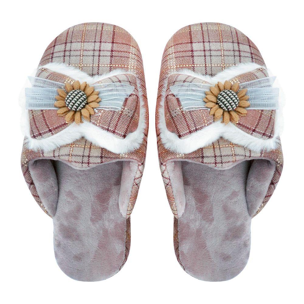 Women's Slippers, I-14, Brown