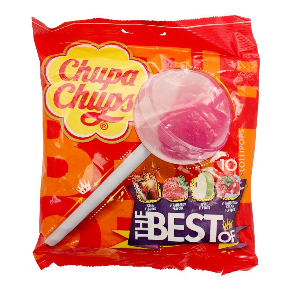 Chupa Chups The Best Of Lollipops, 10 Pieces, 120g