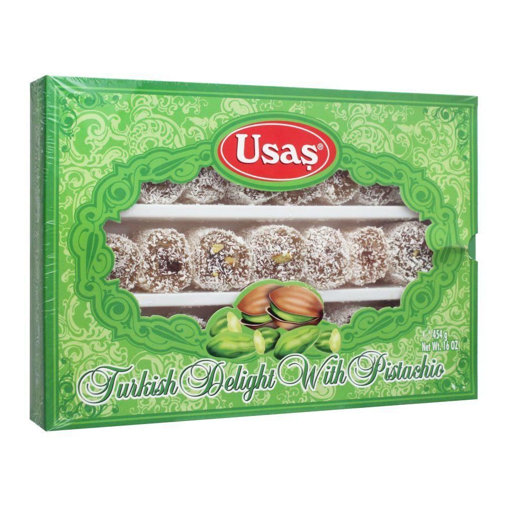 Usas Turkish Delight With Pasha & Pistachio, 454g