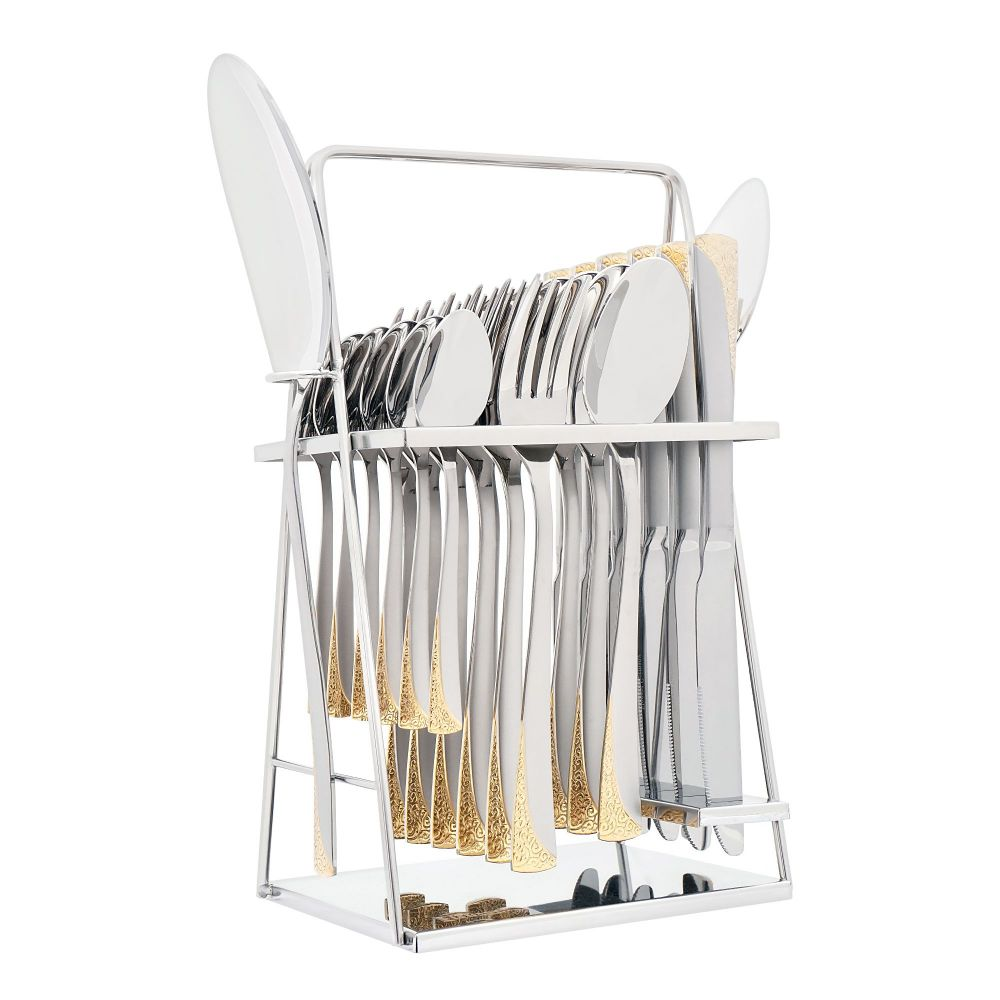 Elegant Stainless Steel Cutlery Set, 26 Pieces, FF26GS-17
