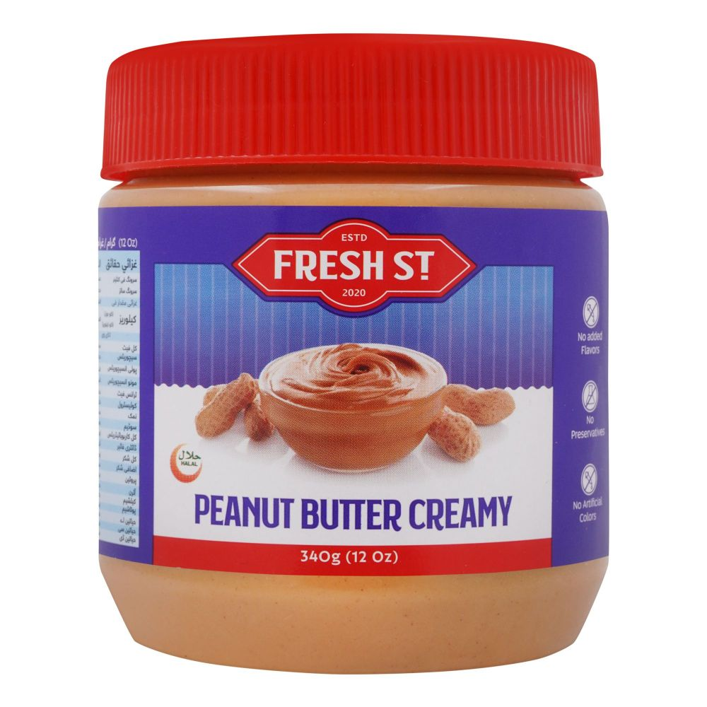 Fresh Street Peanut Butter, Creamy, 340g
