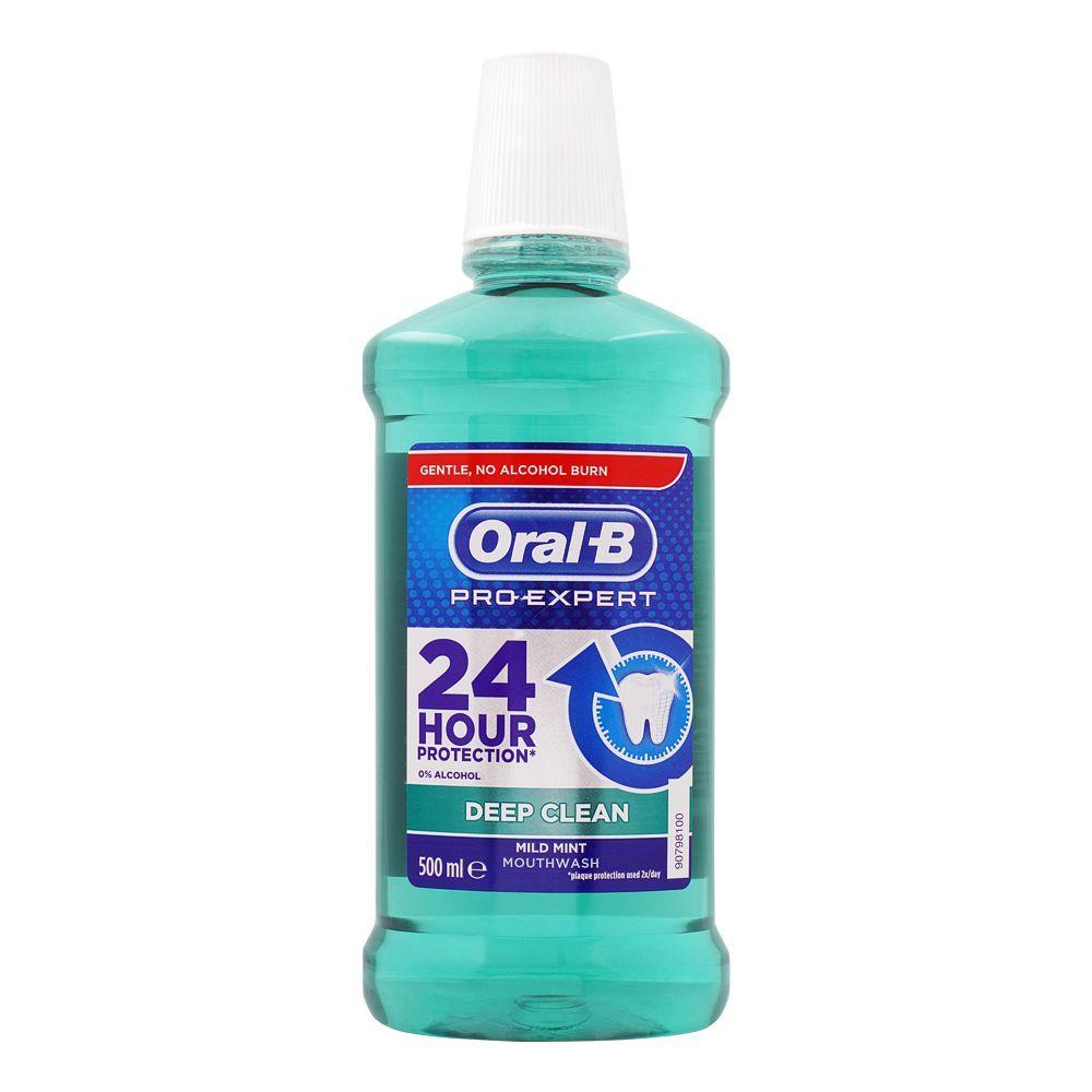 Oral-B Pro-Expert Deep Clean Mild Mint Mouth Wash, 500ml