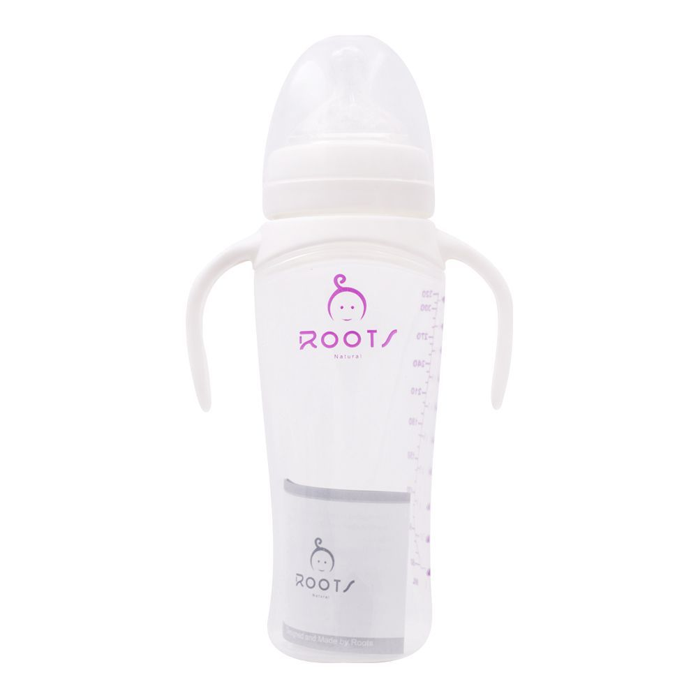 Roots Natural Anti-Colic Feeder, 3m+, M, White, 320ml, J1014