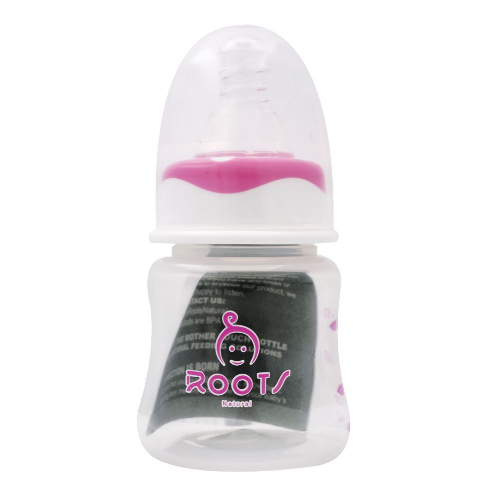 Roots Natural Anti-Colic Feeder, 0m+, S, Pink, 60ml, J1010