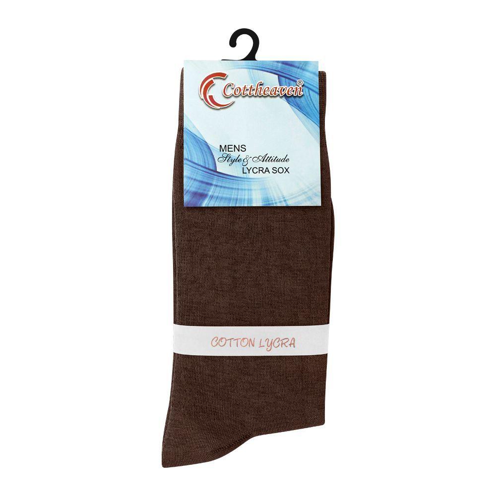 Cottheaven Men's Cotton Lycra Socks, Brown